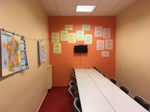 Klaslokaal Paris Langues